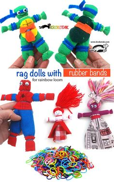 Rag dolls with rubbe