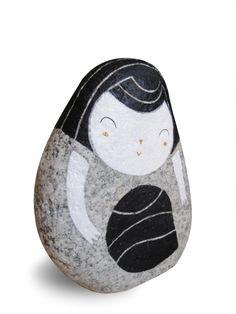 irene fenollar stone hand painted