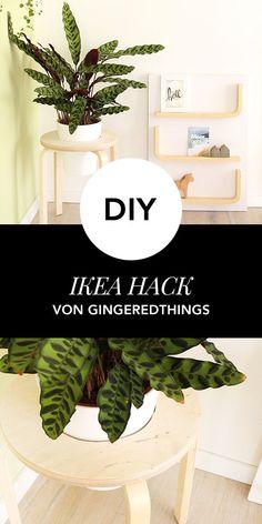 IKEA Hack: So leicht wird aus einem IKEA Tisch ein Pflanzenständer! Decor, Hacks, Ikea Diy, Work Diy, Home Decor