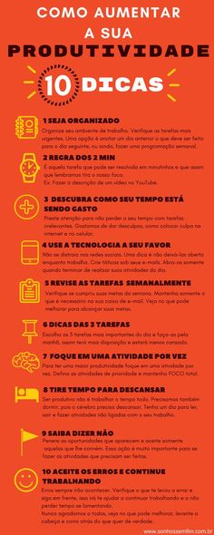 como aumentar a produtividade 10 dicas infografico