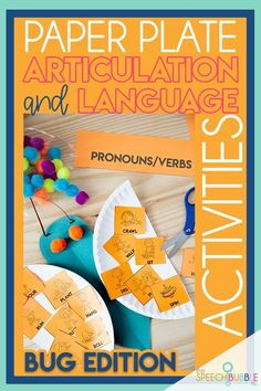 This fun, easy to prep and useful craftivity will no doubt be a student favorite! With loads of card options from parts of speech to categories to associations and MORE, teacher will love them just as much as the students!  #SpeechTherapy #Artic #Articulation #vocabulary #ELA #SpEd #SpecialEducation #craft #ideas #LowPrep #SpeechBubble #BackToSchool