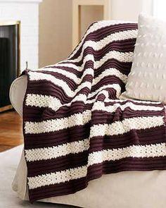 Bernat: Pattern Detail - Super Value - Herringbone Afghan (crochet)