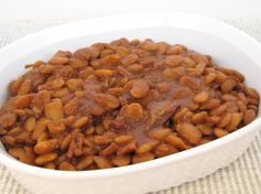 ... | Baked beans, Recipes slow cooker and Slow cooker baked beans