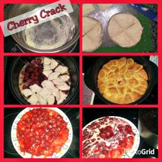 Cherry Crack in my Rockcrok - Not my recipe, but prepared by me :) Rockcrok Recipes, My Recipes, Crockpot Recipes, Dessert Recipes, Favorite Recipes, Pampered Chef Desserts, Tastefully Simple Recipes, Casserole Dishes, Sweet Treats