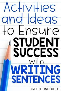 Do your first graders and second graders struggle to write complete sentences?  Do they remember to write a capital letter at the beginning of their sentence and a punctuation mark at the end of their sentence?  This post is filled with practical ideas for you to easily implement into your classroom today!