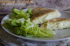 Hamburger di cavolfiore e patate con scamorza filante