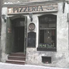 Poland pizza shop!