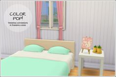 The Sims 4 | lina-cherie Color Pop! Veranka mattress for bed frames & deco recolors | buy mode new objects bed room clutter deco