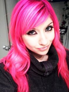 Hot Pink Hair✶ #Hairstyle #Colorful_Hair #Dyed_Hair