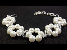 Beautiful Bracelet with Pearls and Chaquira ... Class # 58 !!! - YouTube