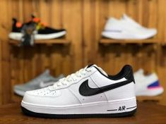 Unisex Nike Air Force 1 07 SE White Black AA0287 100 Men s Women s Casual  Shoes 7c380faf13f1