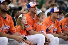 Adam Wainwright and his daughters. I had the pleasure of sitting by these 2 cutie patooties at a Spring Training game in Ft Myers! They are adorable with very bubbly personalities!