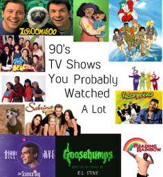 90s TV Shows! Brings back SOOO many memories!