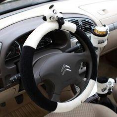 Panda car steering wheel....want this!