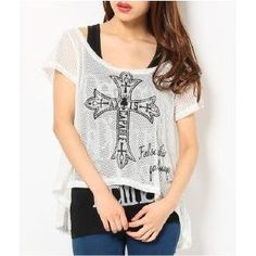 Set: Printed Mesh Top + Printed Tank Top from #YesStyle <3 Ghost of Harlem YesStyle.com