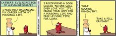 Dilbert Comic Strip Series - Dilbert tries to find work-life balance