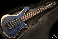Mayones BE 5 Elite Trans Dirty Blue Satine Flamed Maple