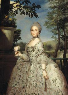 Maria Luisa of Parma by Anton Rafael Mengs ca. 1765