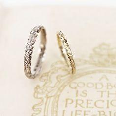 leaf ring wedding band; WANT