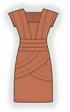 4043 PDF Dress Sewing Pattern - Women Clothes, Personalized for your custom size