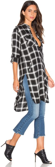 BLANKNYC Long Plait Button Up
