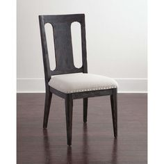 Two Blackwell Side Chairs (8,360 MXN) ❤ liked on Polyvore featuring home, furniture, chairs, dining chairs, brown, brown dining chairs, brown chair, handcrafted furniture, set of two chairs and hand made furniture