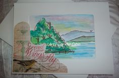 Blank note card  Encouragement card  by ArtFromTheCabin on Etsy, $3.50