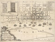 Antique map of Philadelphia from 1762