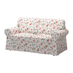 IKEA - EKTORP, Loveseat cover, Videslund multicolor, , The cover is easy to keep clean as it is removable and can be machine washed.A range of coordinated covers makes it easy for you to give your furniture a new look.