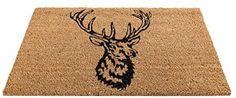 Deer Stag Mat Brown Rug Carpet Home Outdoor Garden Door Floor Hallway Foot DIY