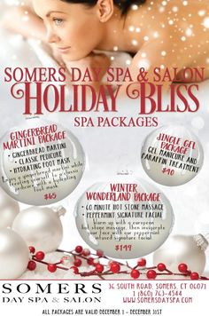 Somers Day Spa & Salon Holiday Spa Packages 2016