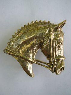 Dressage horse jewelry belt buckle by ForgeHillSculpture on Etsy, $38.00