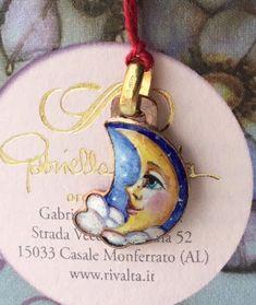 CIONDOLO LUNA GABRIELLA RIVALTA IN ORO 750/1000,18KT | eBay