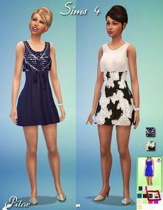 Plata Yoko dresses by Pilar at SimControl via Sims 4 Updates
