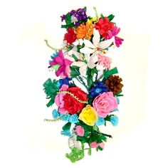 Polish Floral Bouquet -- made of paper, to be hung on a wall. so cheery and never needs watering. :)