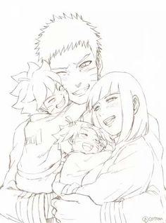 So cute! #uzumaki #family #naruhina #naruto #hinata