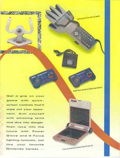 """The Power Glove needs to make a comeback purely as a fashion statement.   The 18 Raddest Pages From The 1990 """"World Of Nintendo"""" Catalog"""