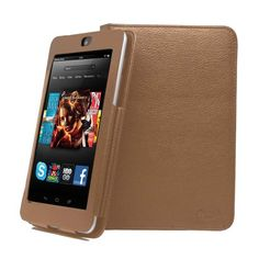 """KaysCase Two Piece Detachable Multiple Angle Cover Case for Amazon Kindle Fire HD 7"""" inch Tablet, Dolby Audio, Dual-Band Wi-Fi, 16 GB (Brown)"""