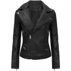 Yoins Classic Biker Jacket  S/M/L (€50) ❤ liked on Polyvore featuring outerwear, jackets, yoins, genuine leather jacket, biker jacket, 100 leather jacket, leather moto jacket and leather biker jacket