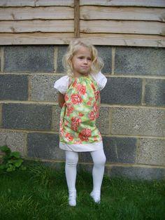 Brooke peasant dress (pattern by Little Lizard King)