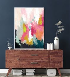 Colorful Abstract Art Printable Wall Art Painting Downloadable | Etsy...