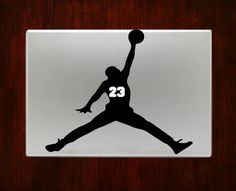 Michael Jordan #23 Basketball Sports Macbook Decal Stickers
