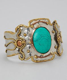 Take a look at this Silver & Gold Rustic Cuff by Original Cowgirl on #zulily today!