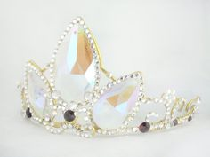 A Tangled Tiara Rapunzel's Gold Crystal Crown Made by angelyques