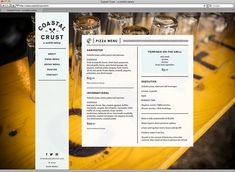 lovely online menu from Stitch Design Co