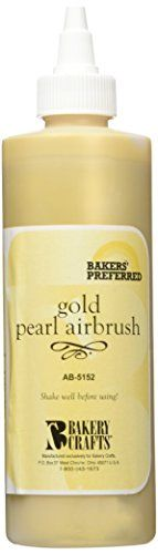 Bakery Crafts Air Brush Food Color 8 oz Gold Pearl >>> You can find more details by visiting the image link.
