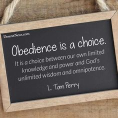 Obedience is a choice