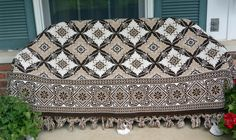 Italian Bedspread - Two Sided, Jacquard, Beautiful Design, Queen - Vintage - Stunning! by YPSA on Etsy