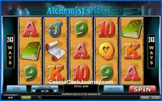 Alchemist's Spell is a 5-reel, 243 payline Playtech non progressive video slot machine.   More this way...    http://www.casinocashjourney.com/playtech-slots/alchemists-spell.htm