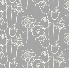 Garden Variety (gray or coral) fabric {Spoonflower}